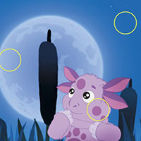 Гра Лунтік шукає відмінності вночі