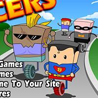Гра Супермен і Бетмен у одноколесних гонках!