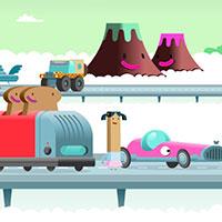 Гра Гонки на мультяшних  машинах