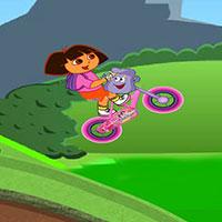 Гра Даша Слідопит на рожевому велосипеді