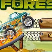 Гра Гонки на тракторах: Вогняні гонки по лісу!