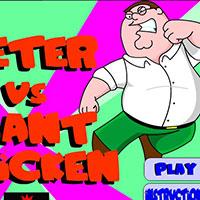 Гра Гріффіни: Бійка Пітера і величезного півня!!