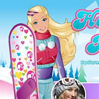 Гра Барбі на сноуборді