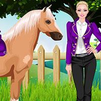 Гра Барбі на конях