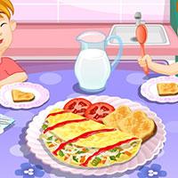 Гра Готуємо смачний омлет: вчимося готувати онлайн!
