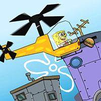 Гра Губка Боб літає на вертольоті