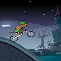 Гра Скубі Ду на велосипеді вночі