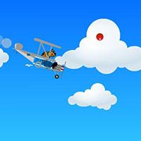 Гра Скубі Ду літає на літаку