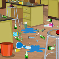 Гра Прибирання в шкільній лабораторії: грай безкоштовно онлайн!