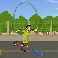 Гра Скубі Ду катається на скейті