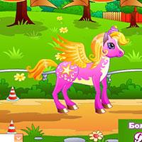 Гра Поні гонки грати онлайн з друзями!