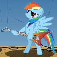 Гра Поні грає на гітарі