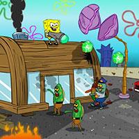 Гра Губка Боб проти риб-зомбі
