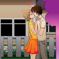 Гра Поцілунок біля будинку