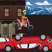 Гра Наруто на мотоциклі по машинах