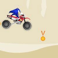 Гра Сонік на мотоциклі в пустелі
