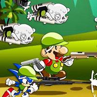Гра Sonic і Маріо проти зомбі