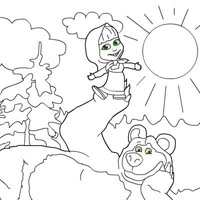 Гра Маша і Ведмідь розмальовки
