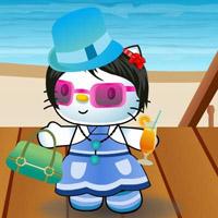 Гра Хелло Кітті на Пляжі - Одягалка