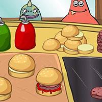 Гра Губка Боб готує крабсбургери