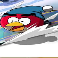 Гра Злі пташки на сноуборді