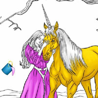 Гра Розмальовка: Розфарбуй єдинорога
