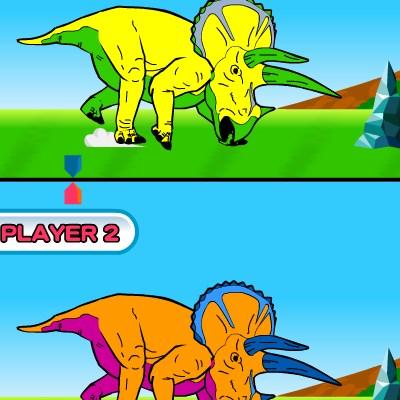 Гра змагання динозаврів