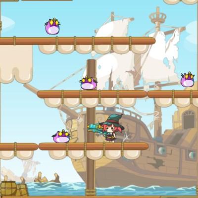 Гра стрілялка на двох: Маленькі пірати