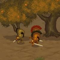 Гра бійки на двох онлайн: Удар мечем