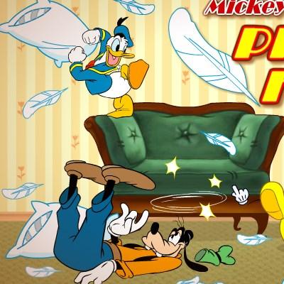 Гра Бійки: Міккі і його друзі боротьба подушками