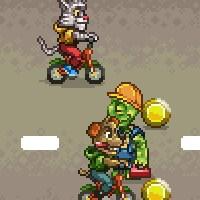Гра гонки: Пес і Кіт на велосипеді