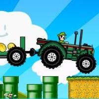Гра Маріо на тракторі на двох