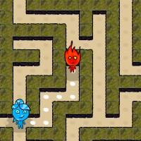 Гра Вогонь і Вода на двох: Пригода в лабіринті