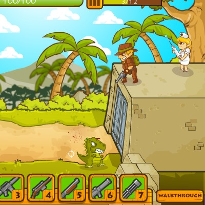Гра Атака Динозаврів: Захисти будинок