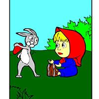 Гра Маша і Ведмідь ловлять зайчика