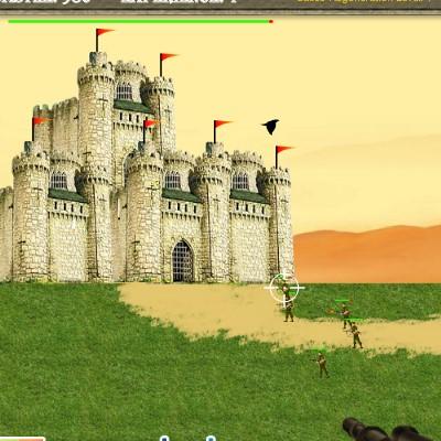 Гра Атака на замок: Зелений бере