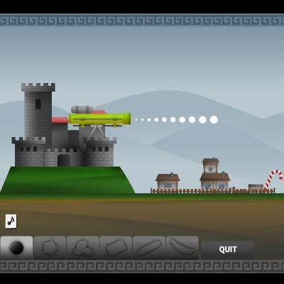 Гра Атака з моря: Захисти замок від ворожих кораблів
