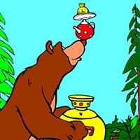 Гра Маша і Ведмідь ставлять самовар