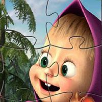 Гра Маша і Ведмідь: Чарівний паззл