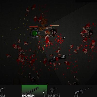Гра Атака Орди Зомбі: Команда Кобра на виживання вид зверху