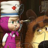 Гра 4 пазла Маша і ведмідь: грай безкоштовно онлайн!