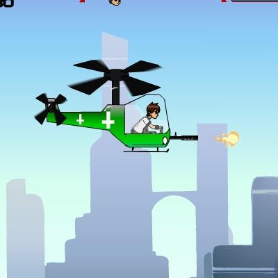 Гра Стрілялка Бен 10 на вертольоті