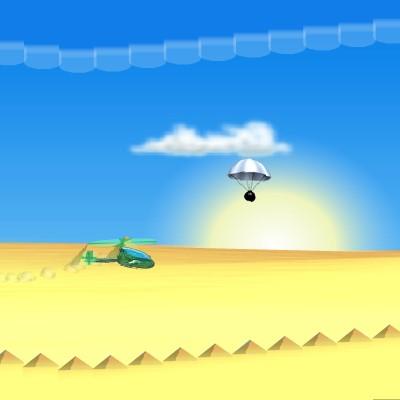Гра Флэппи Вертоліт: Облетіти бомби