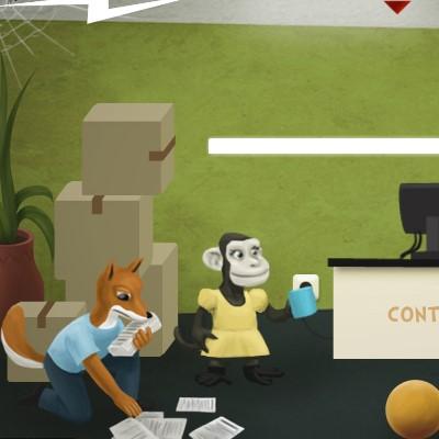 Гра Знайти вихід з офісу звіряток