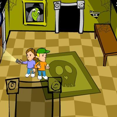 Гра Знайти друга Еда в будинку з привидами
