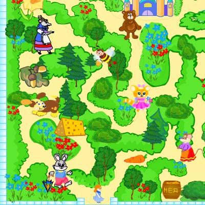 Гра для дітей: Лабіринт