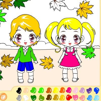 Гра для дітей: Хлопчик і Дівчинка на Прогулянці