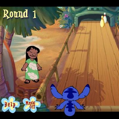 Гра для дітей: Боулінг з Ліло і Стіч