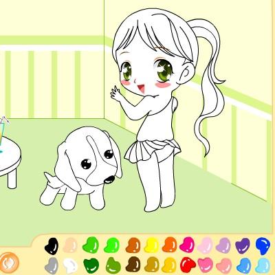 Гра для дітей: Дівчисько і Щеня