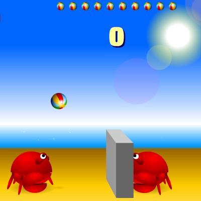 Гра для дітей: Краби грають у волейбол
